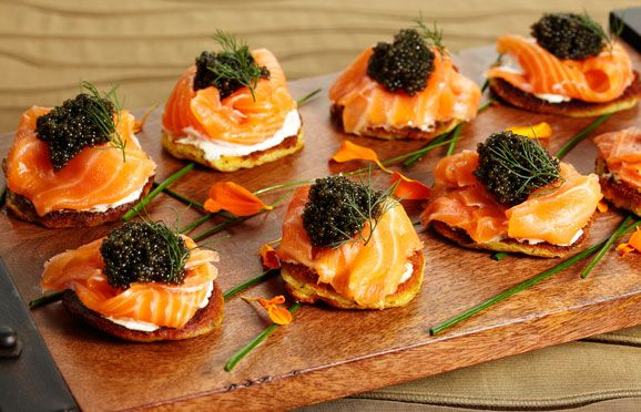 salmon hors d'oeuvres.