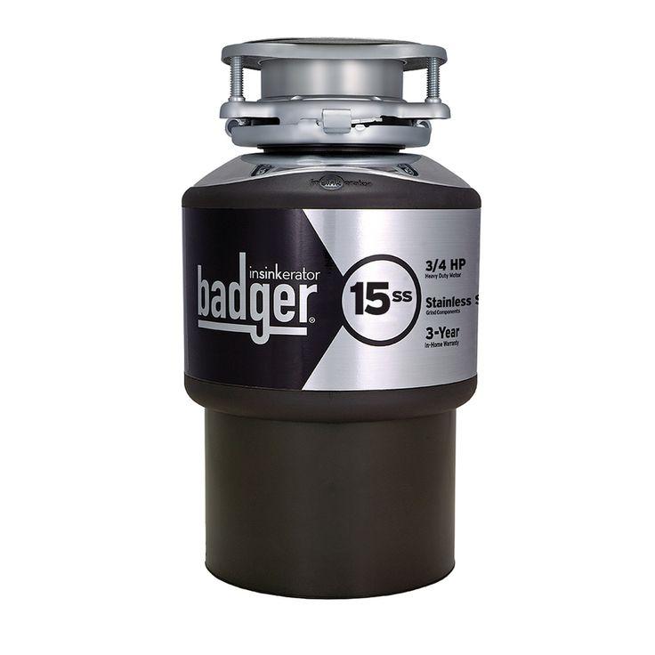 insinkerator badger 15ss 3 4 hp garbage disposal manual