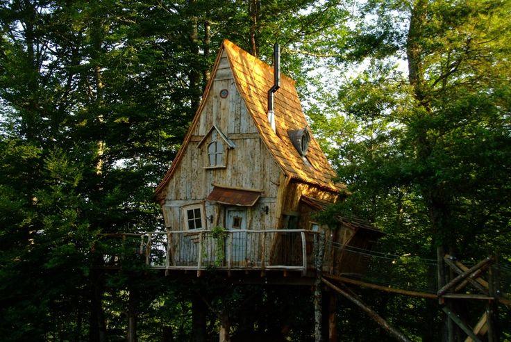 Vivez une nuit insolite et authentique dans l'une de nos cabanes dans les arbres en Correze ou bien dans notre cabane de pêcheur au bord d'un étang