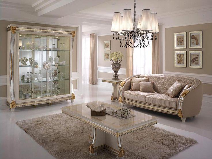Tavolino da salotto, in legno decorato artigianalmente, per l ...
