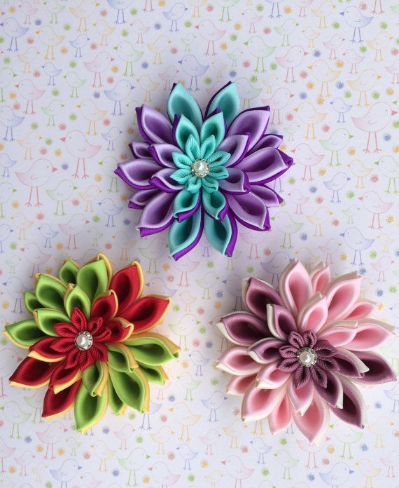 Hey, I found this really awesome Etsy listing at https://www.etsy.com/listing/198968876/1-flower-appliquekanzashi-flower