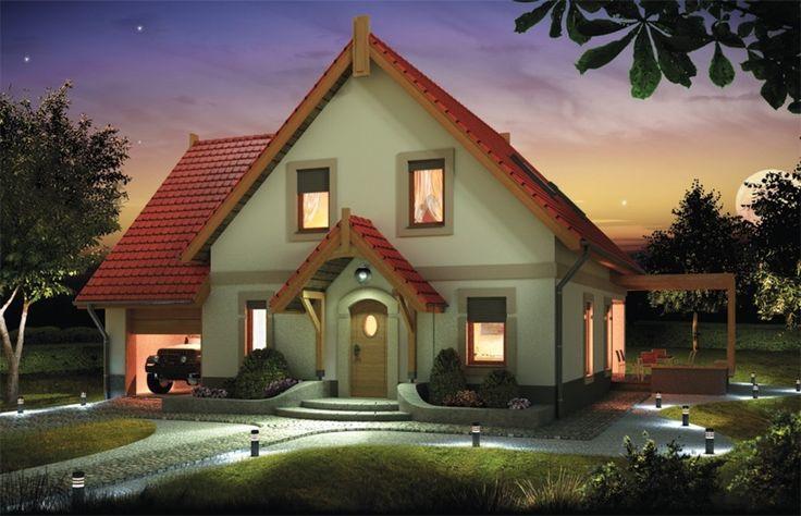 Nieduży, zgrabny domek, niedrogi w budowie dla 4-6 osobowej rodziny.