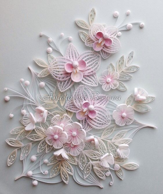 White & Pink Quilling - by: Anastasiya Bertova