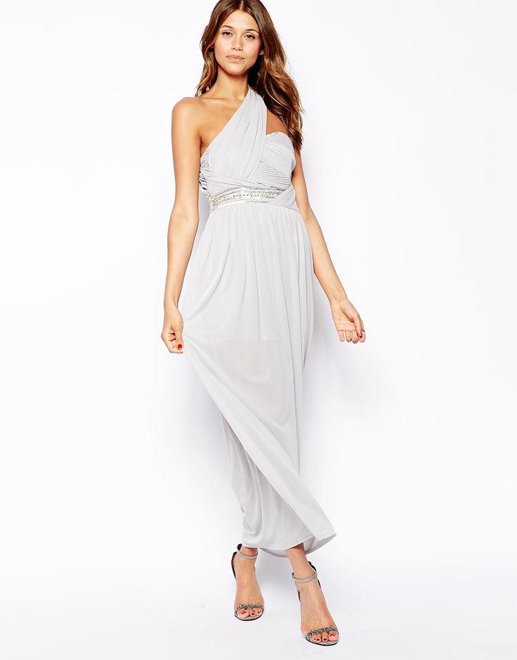 TFNC One Shoulder Maxi Dress With Embellished Waist ...