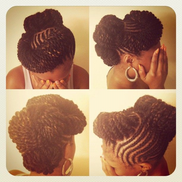 @maine_stream follow her instagram, and twitter www.twitter.com/Maine_Stream she has some serious hair skills!: Hair Ideas, Braids Cornrows Locs Twists, Hair Styles, Protective Styles, Hairstyles Ideas, Natural Hairstyles, Braids Twist, Hairstyles Naturalhairlife