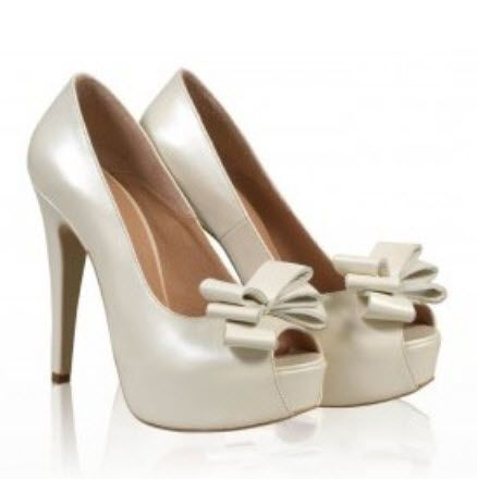 Pantofi aurii din piele cu platforma imvracata si funda mare