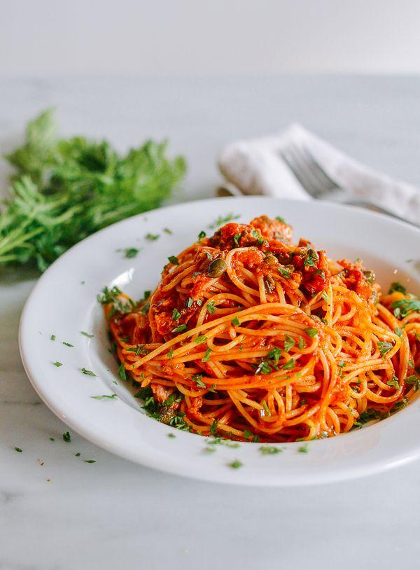 Tuna Tomato Pasta Pantry Recipe The Woks Of Life Recipe Tuna Tomato Pasta Tomato Pasta Pasta