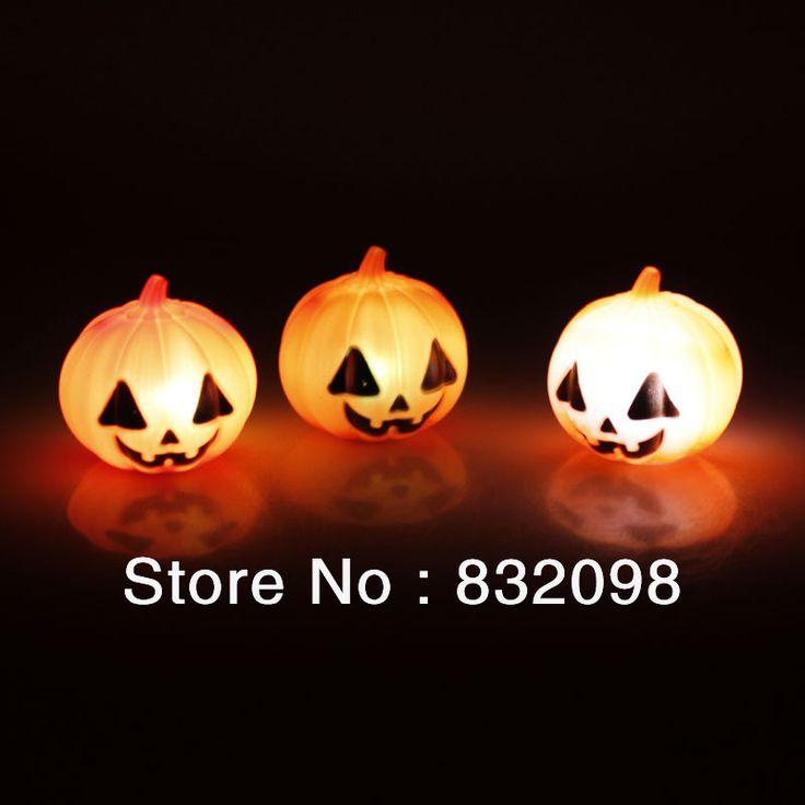 free shipping wholesale 2013 halloween decoration plastic pumpkin led light halloween pumpkin in event