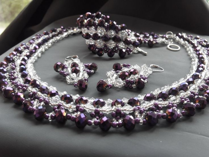 Necklace with earrings and bracelet
