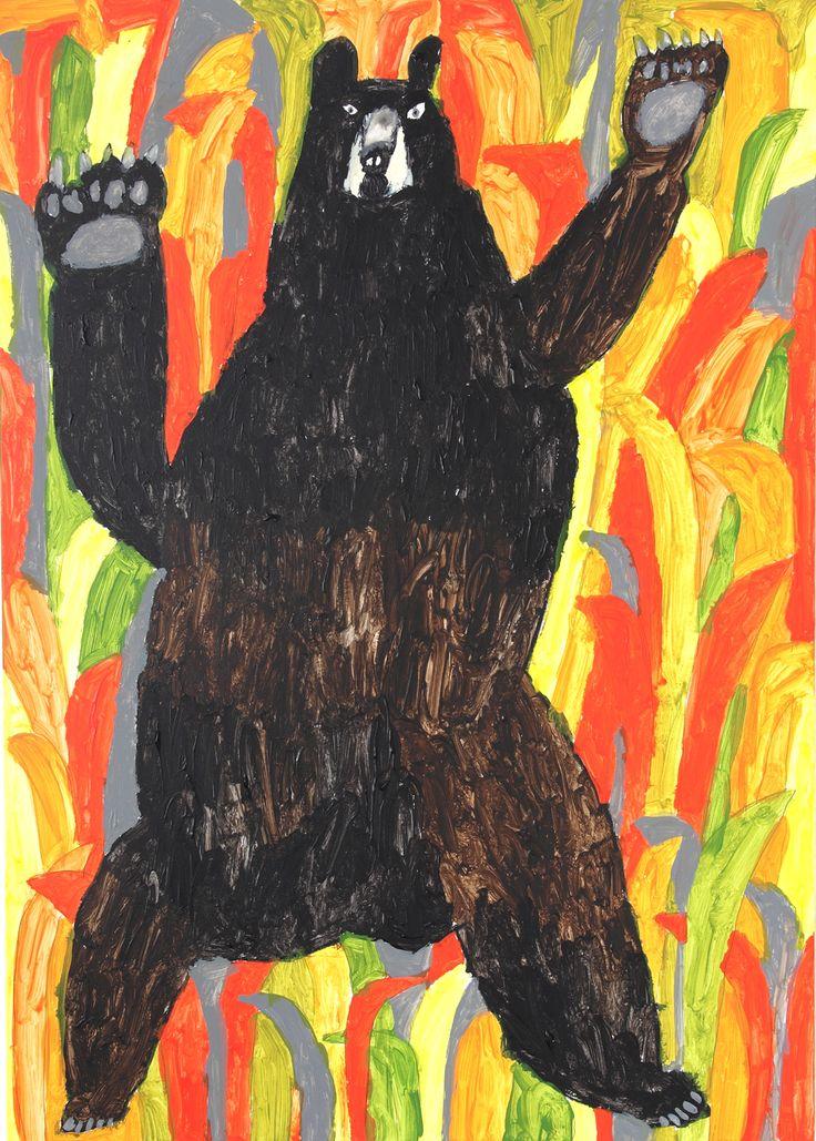アメリカクロクマ ミロコマチコ / Eastern black bear by Machiko Miroko