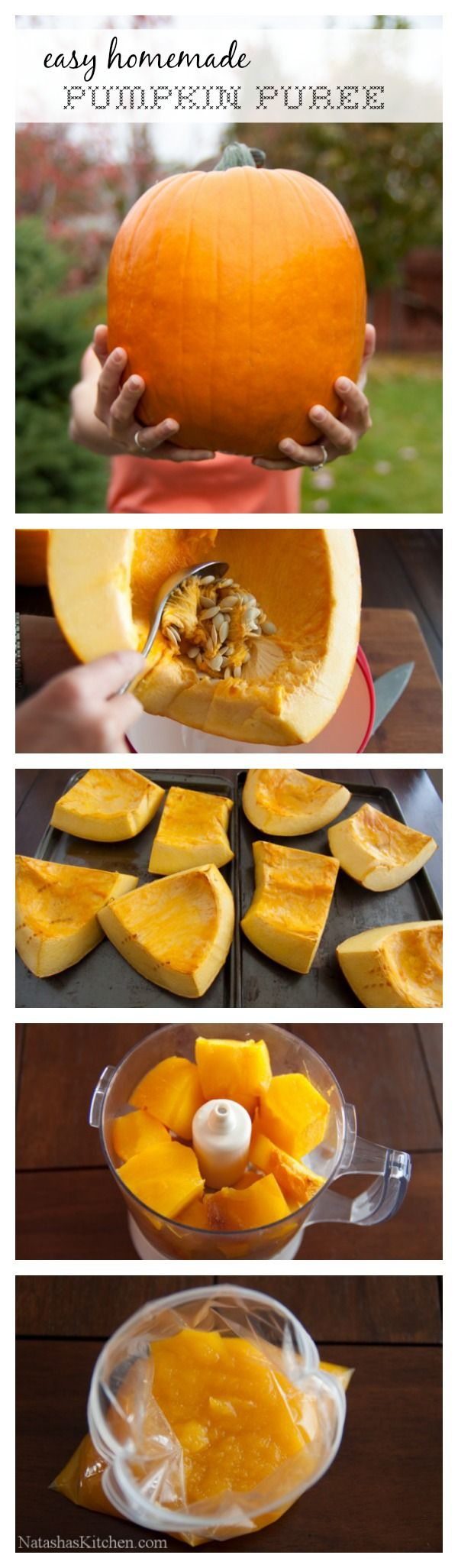 A step-by-step guide to making your own pumpkin puree. Perfect for baking…