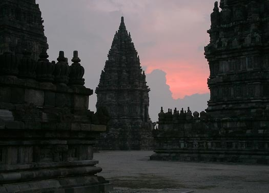 Prambanan temple at dawn