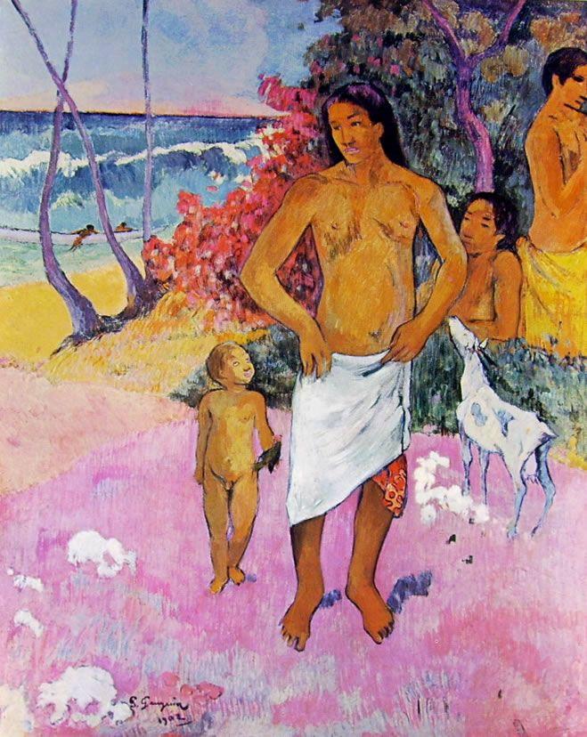 Famiglia tahitiana, olio su tela, collezione privata, New York