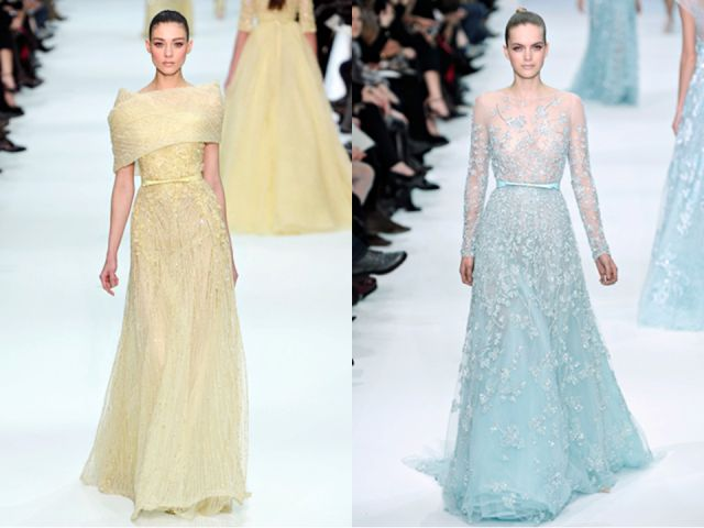 Elsa Inspired Wedding Dress Elie Saab