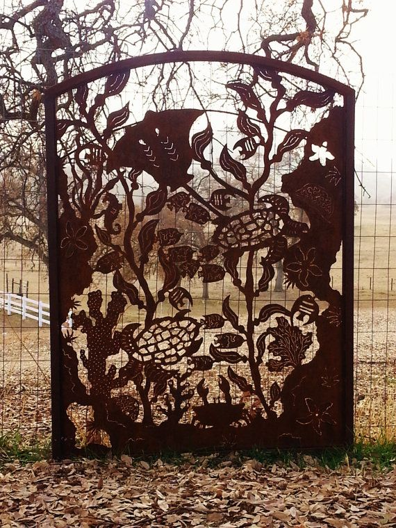 Rusty Garden Metal Art Garden Gate Garden by FoothillMetalArt, $685.00