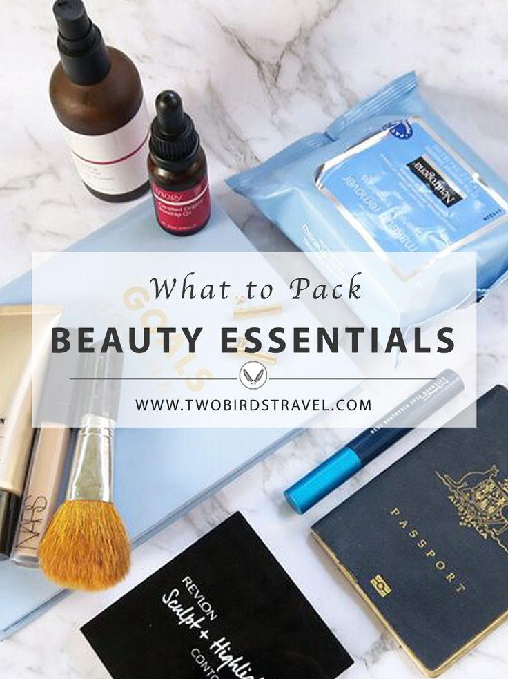 Beauty Essentials to Take onboard by Two Birds Travel