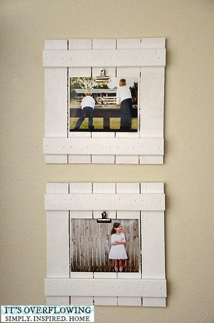 DIY picture frame ideas #DIY #pictureframe #clipframe #picturecrafts