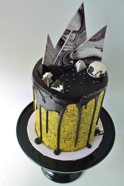 Black Drip Cake, Katherine Sabbath inspired - The Cake Crusader, Custom cakes in Western MA