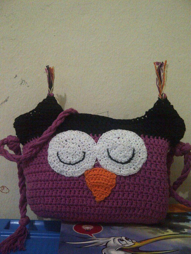 simple owl bag for my little girl.