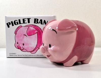 Japan Kato Kogei Desney Winnie the Pooh Pigret Ceramic Piggy Bank