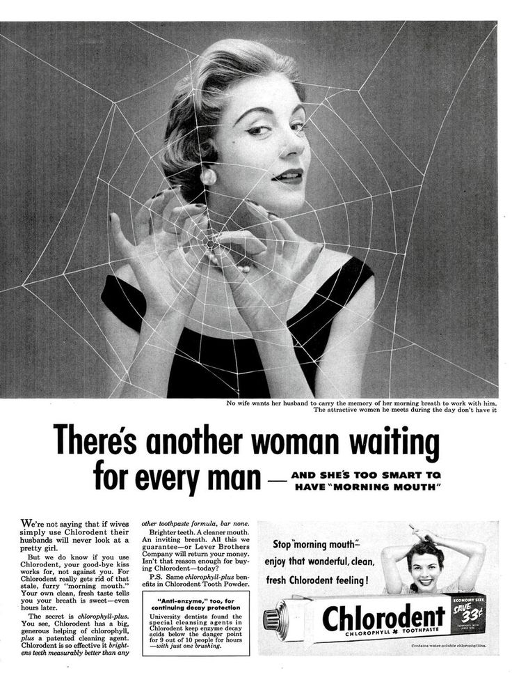 1950s Chlorodent Ad