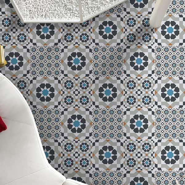 Create a statement floor with these striking Harika Tiles... https://www.wallsandfloors.co.uk/range/harika-tiles