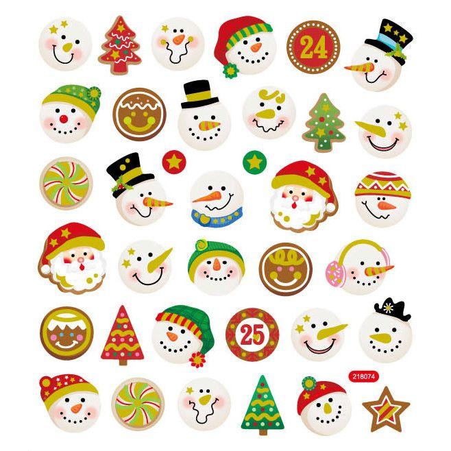 Snowmen & Santa Sticker
