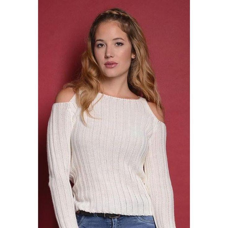 Sweater Tejido Hombro Descubierto