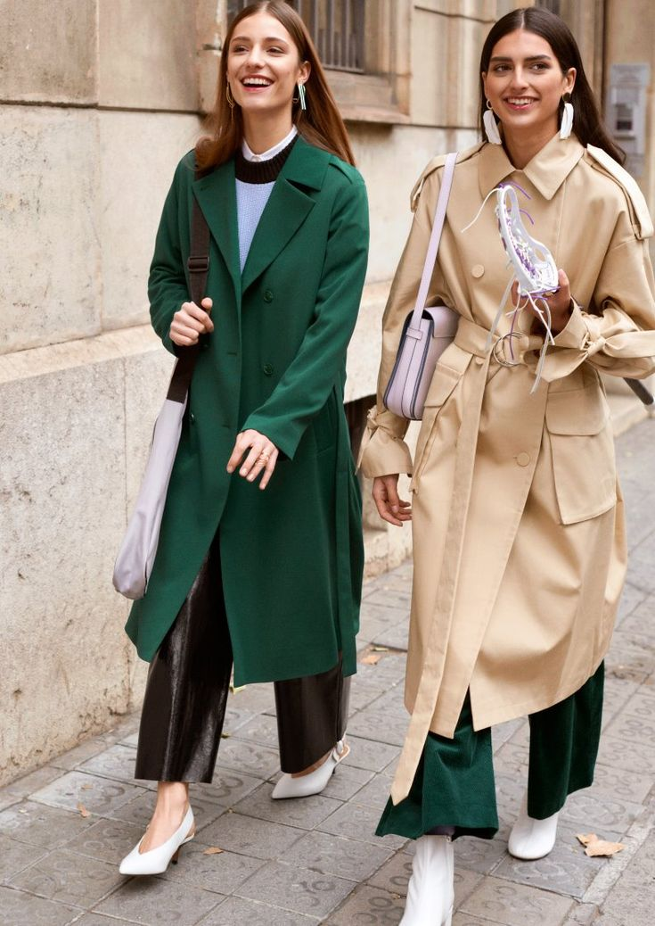 & Other Stories | Inspiration | Wide Corduroy Trousers | Oversized Trench Coat | Double Breasted Trench Coat | Patent Leather Culottes