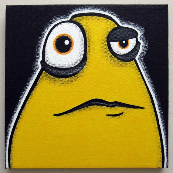 a WEEk oF mOnSTeRs - TUESDAY - part of a series - 10x10 original acrylic painting