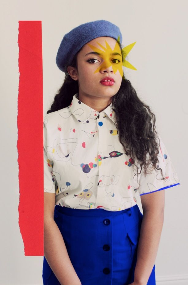 A sartorial homage to Henri Matisse - Verity's own shirt, skirt by Peter Jensen, beret from Beyond Retro.