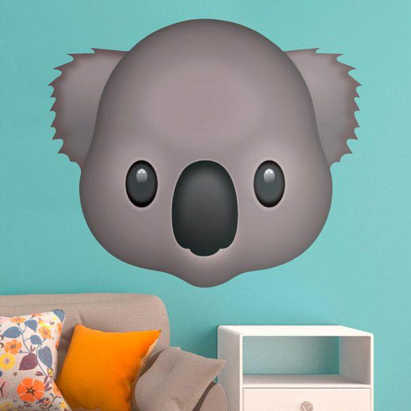 Adesivi Murali: Faccia di Koala #vinili #emoji #emoticon #decorazione #muro #parete #faccias #animali #StickersMurali