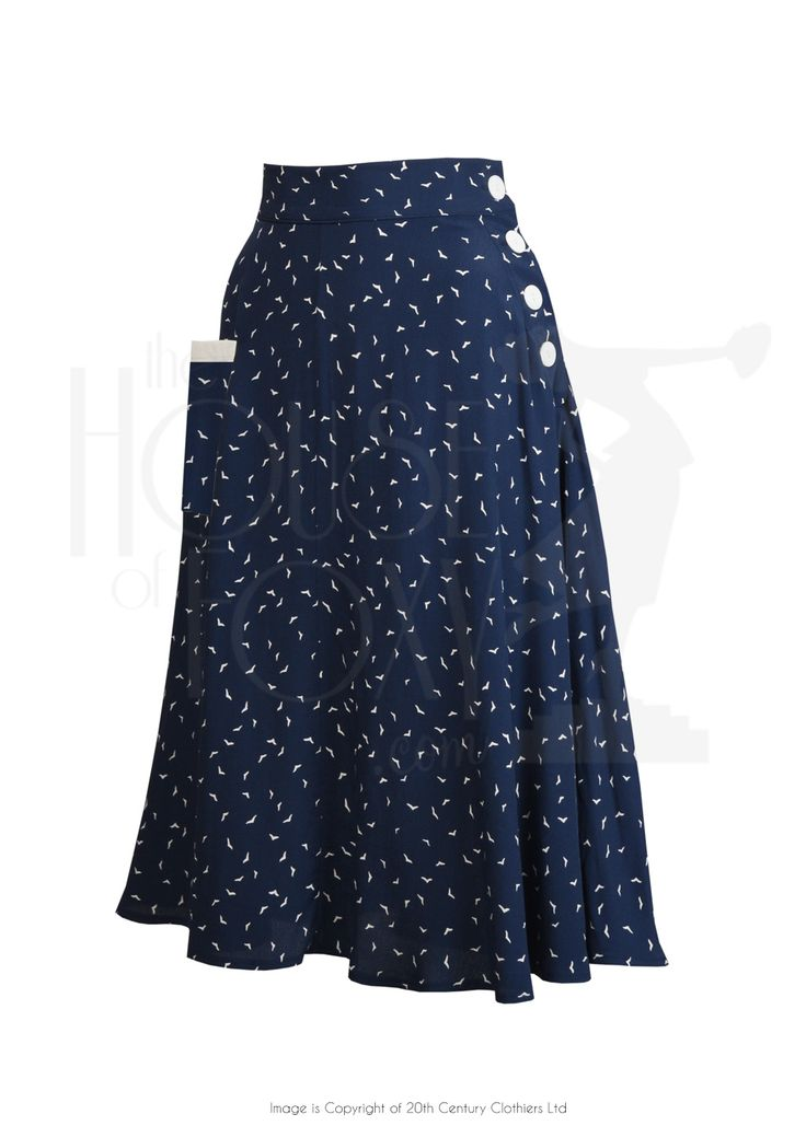 1940s Style Whirlaway Swing Dance Skirt in Starling