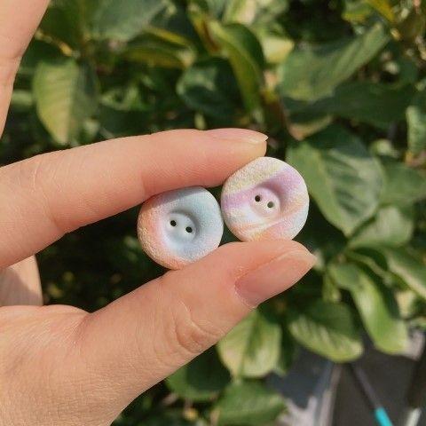 [폴리머클레이] 마블단추 : 네이버 블로그  Polymer clay pastel buttons