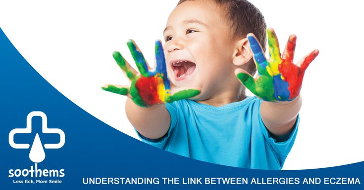 UNDERSTANDING THE LINK BETWEEN ALLERGIES AND ECZEMA: Did you know that if one or both parents have eczema, asthma, or seasonal allergies, their child is more likely to develop eczema? Read more on our blog! #EczemaAwarenessMonth