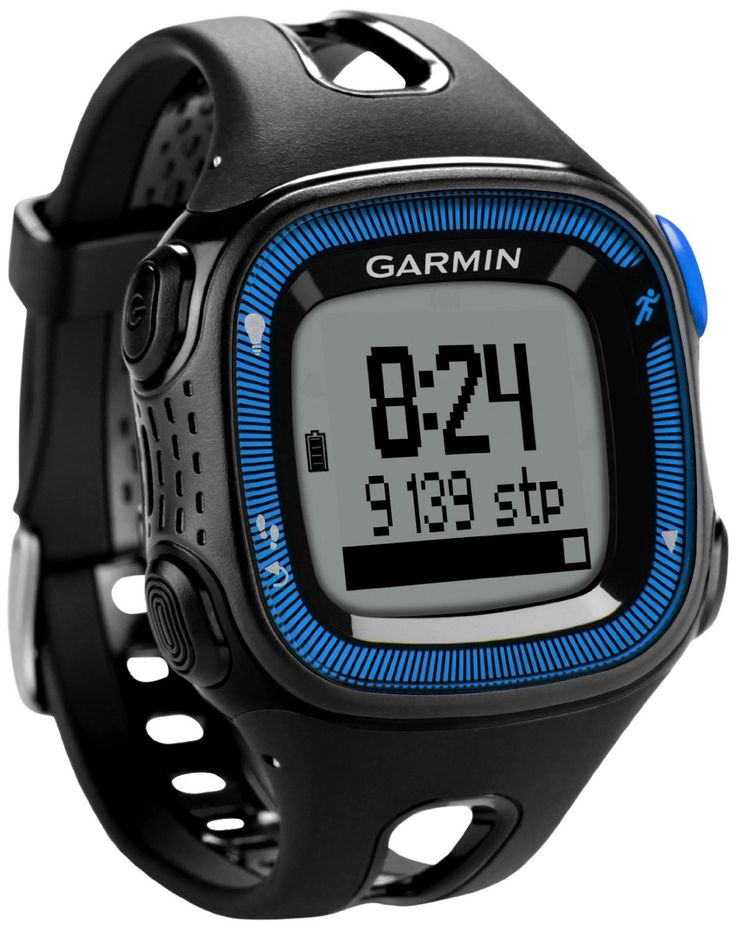 Garmin Forerunner 15 GPS Running Watch and Activity Tracker with Heart Rate Monitor, Large - Black/Blue: Amazon.co.uk: Electronics