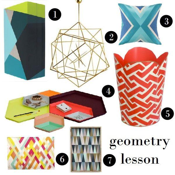 Decoration Inspiration: Geometry Lesson #decorating #home #homedecor #geometric #pattern