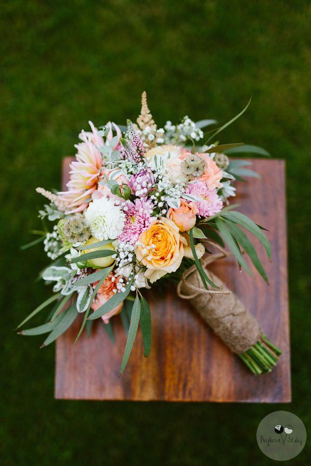 INNA Studio_ bridal bouquet / kolorowy bukiet ślubny / fot. Bajkowe Śluby