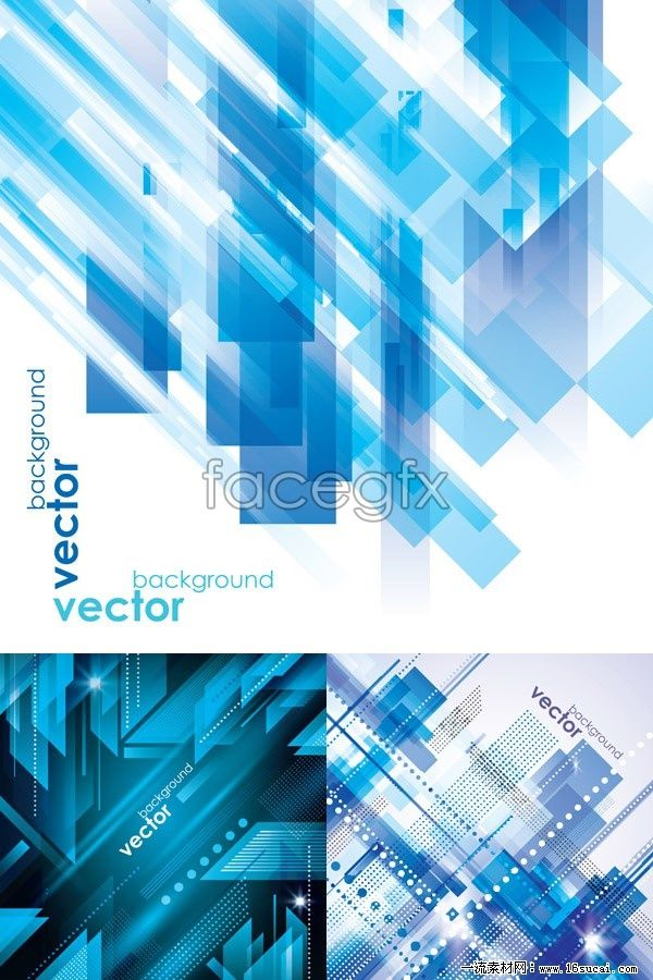 Cool Blue technology background vector graphics