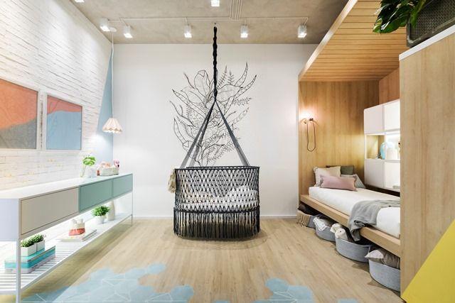 Quarto de Bebê com cabana, berço de macramê lindo na Casa Cor SP 2017!