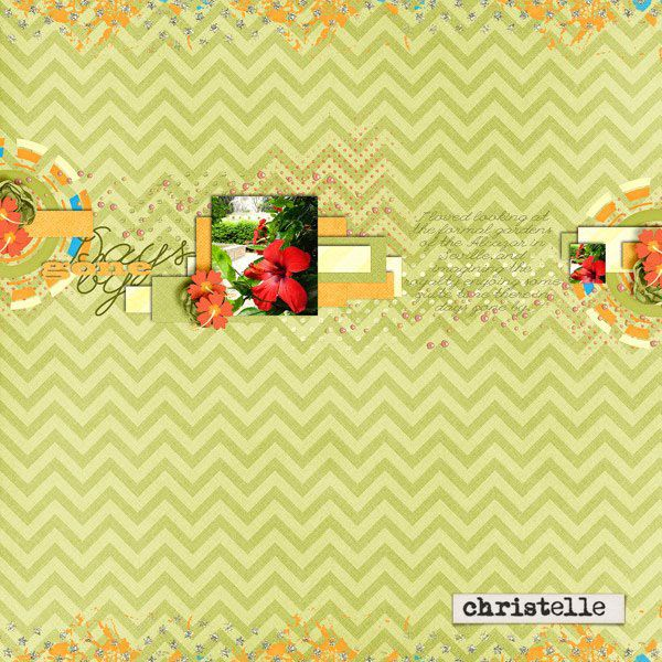 Christell's amazing, simple and elegant layout