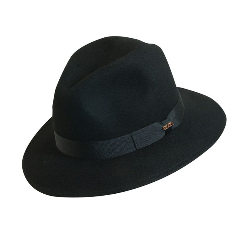 Scala Whippany - Soft Wool Felt Fedora Hat $45.00   Take a nod from the movies and try adding a hat to your look. The Whippany, from the Classico Collection by Scala, is a great starter or addition to an already expansive hat repertoire. This outdoors fedora is made of a water repellent soft wool. It features classic details like a self matching 12-ligne grosgrain ribbon band with bow detail and a Scala hat pin.