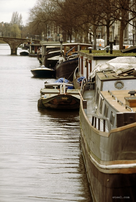 canal boats, Amsterdam