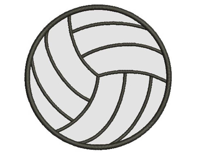 Volleyball Embroidery Design From Embroiderydesigns Com Embroidery Designs Free Embroidery Designs Embroidery