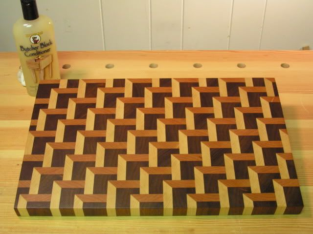 Staggered Steps Endgrain Cutting Board - by SPalm @ LumberJocks.com ~ woodworking community