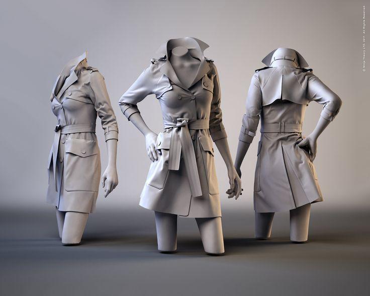 Trench Coat, Marvelous Designer 2