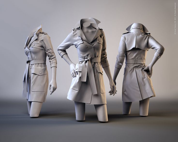Trench Coat, Marvelous Designer 2