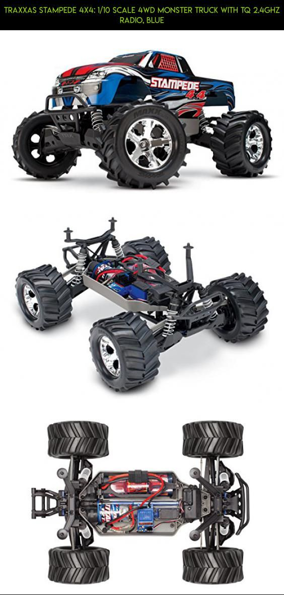 Traxxas Stampede 4X4: 1/10 Scale 4wd Monster Truck with TQ 2.4GHz Radio, Blue #tech #fpv #products #technology #traxxas #bigfoot #shopping #plans #kit #gadgets #parts #drone #racing #camera