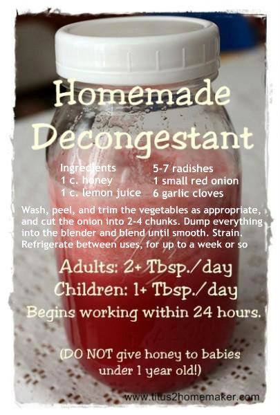 Homemade Decongestant ✽✽✽✽ Friend/Follow on me on Facebook, I'm always posting awesome stuff & join my great healthy living group for fun, friends, support & daily challenges at www.facebook.com/groups/yourhealthylife.natashak  For healthy recipes all in one place, like my page www.facebook.com/yourhealthyliferecipes  www.natashak.SkinnyFiberPlus.com  Have a FABULOUS day!!✽✽✽✽