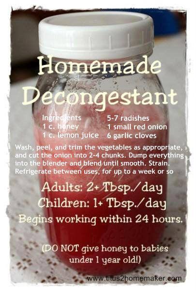 homemade decongestant